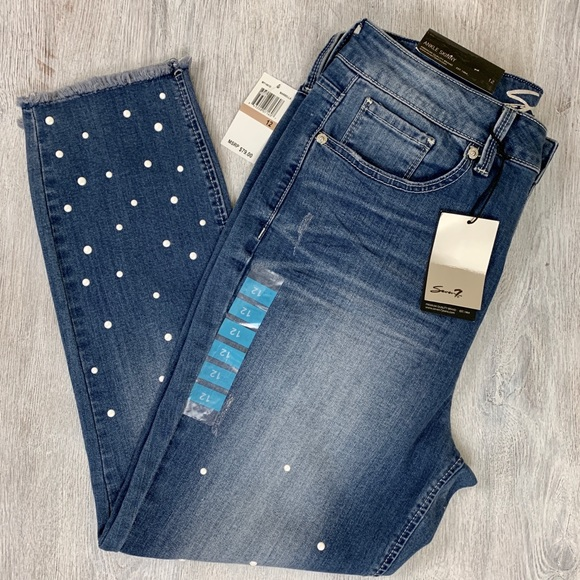 NEW Women's Size 6 Seven 7 Jeans Stars Ankle Skinny Denim Jeans MSRP $79 NWT